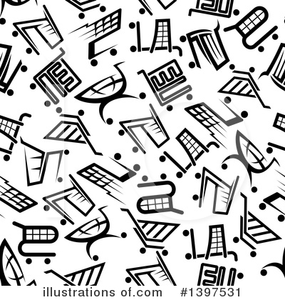 Shopping Cart Clipart #1397531 by Vector Tradition SM