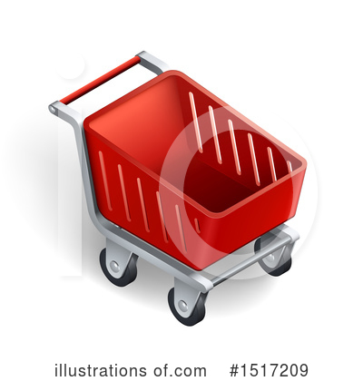 Royalty-Free (RF) Shopping Cart Clipart Illustration by beboy - Stock Sample #1517209