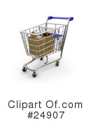 Royalty-Free (RF) Shopping Cart Clipart Illustration #24907