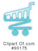 Royalty-Free (RF) Shopping Cart Clipart Illustration #90175