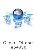 Shopping Carts Clipart #54930 by Julos