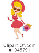 Royalty-Free (RF) Shopping Clipart Illustration #1045791