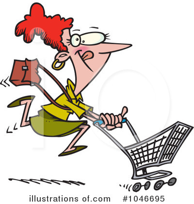 Shopper Clipart #1046695 by toonaday