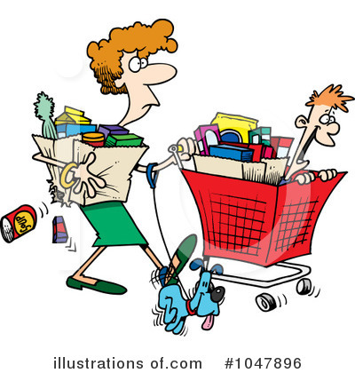 Shopper Clipart #1047896 by toonaday