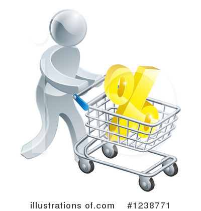 Shopping Cart Clipart #1238771 by AtStockIllustration
