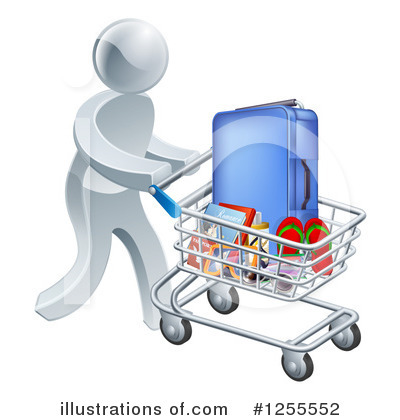 Shopping Cart Clipart #1255552 by AtStockIllustration