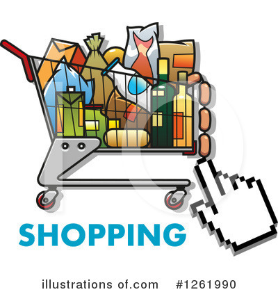 Shopping Cart Clipart #1261990 by Vector Tradition SM