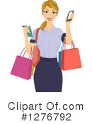 Royalty-Free (RF) Shopping Clipart Illustration #1276792