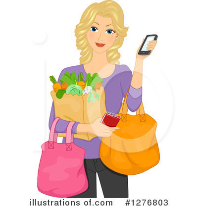 Royalty-Free (RF) Shopping Clipart Illustration by BNP Design Studio - Stock Sample #1276803
