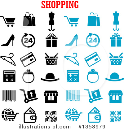 Shopping Cart Clipart #1358979 by Vector Tradition SM