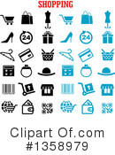 Royalty-Free (RF) Shopping Clipart Illustration #1358979