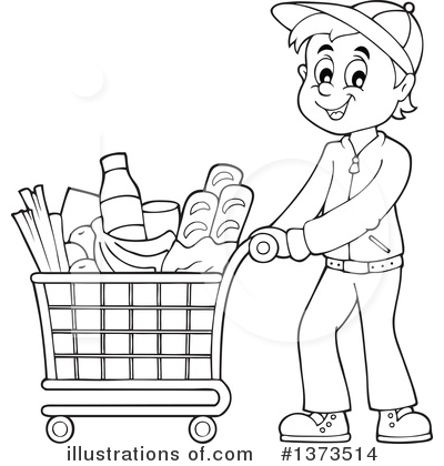 Royalty-Free (RF) Shopping Clipart Illustration by visekart - Stock Sample #1373514