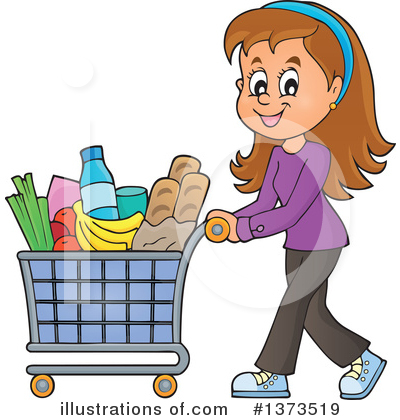 Shopping Cart Clipart #1373519 by visekart