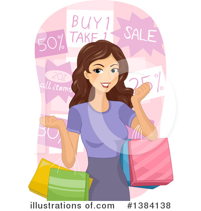 Shopping Bags Clipart #1384138 by BNP Design Studio