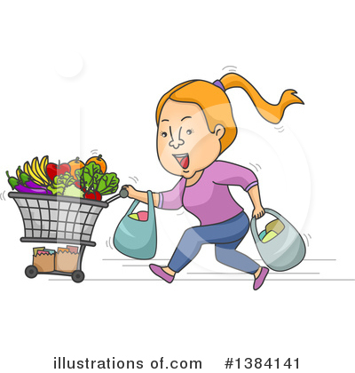 Groceries Clipart #1384141 by BNP Design Studio