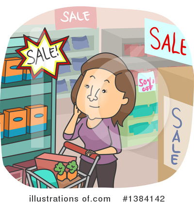 Groceries Clipart #1384142 by BNP Design Studio