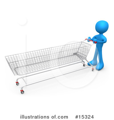 Royalty-Free (RF) Shopping Clipart Illustration by 3poD - Stock Sample #15324