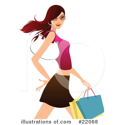 Royalty-Free (RF) Shopping Clipart Illustration by OnFocusMedia - Stock Sample #22068