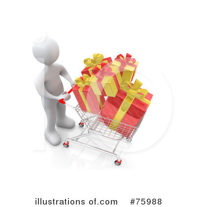 Christmas Shopping Clipart #75988 by 3poD