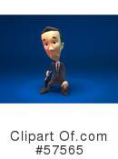 Short Businessman Character Clipart #57565 by Julos