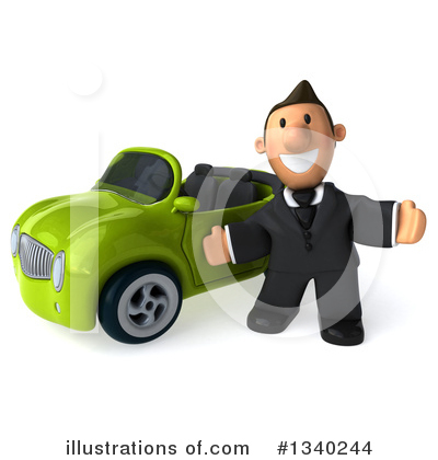Short Caucasian Businessman Clipart #1340244 by Julos