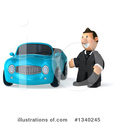 Short Caucasian Businessman Clipart #1340245 by Julos