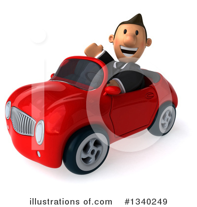 Royalty-Free (RF) Short Caucasian Businessman Clipart Illustration by Julos - Stock Sample #1340249