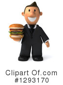 Short White Businessman Clipart #1293170 by Julos