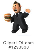 Short White Businessman Clipart #1293330 by Julos
