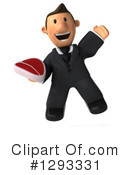 Short White Businessman Clipart #1293331 by Julos