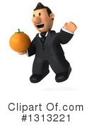 Short White Businessman Clipart #1313221 by Julos