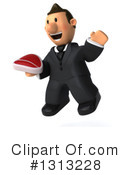Short White Businessman Clipart #1313228 by Julos