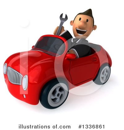 Royalty-Free (RF) Short White Businessman Clipart Illustration by Julos - Stock Sample #1336861