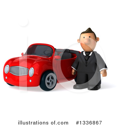 Royalty-Free (RF) Short White Businessman Clipart Illustration by Julos - Stock Sample #1336867