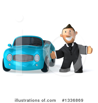 Royalty-Free (RF) Short White Businessman Clipart Illustration by Julos - Stock Sample #1336869