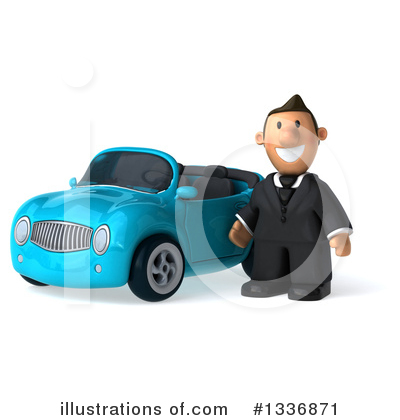 Royalty-Free (RF) Short White Businessman Clipart Illustration by Julos - Stock Sample #1336871
