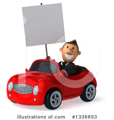 Short Caucasian Businessman Clipart #1336893 by Julos