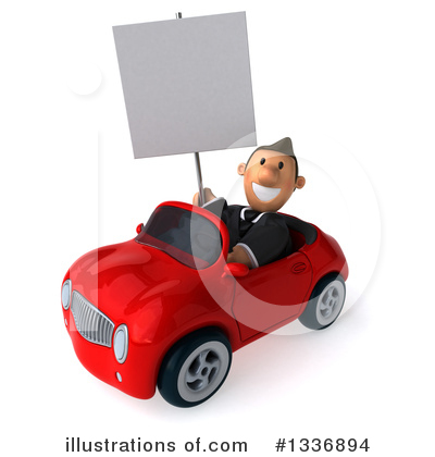 Short Caucasian Businessman Clipart #1336894 by Julos