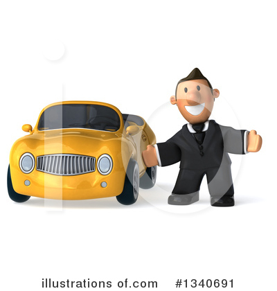 Short White Businessman Clipart #1340691 by Julos