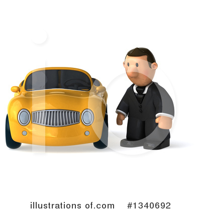 Short White Businessman Clipart #1340692 by Julos