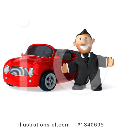 Short White Businessman Clipart #1340695 by Julos