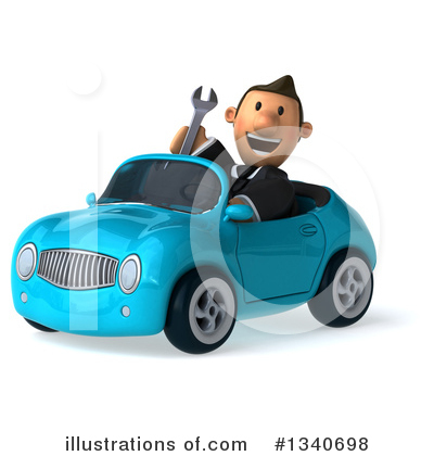 Short White Businessman Clipart #1340698 by Julos