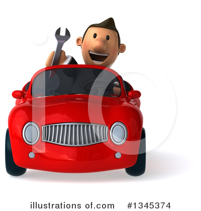 Short White Businessman Clipart #1345374 by Julos