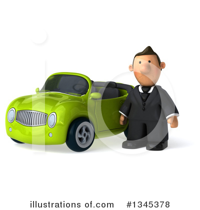 Short White Businessman Clipart #1345378 by Julos