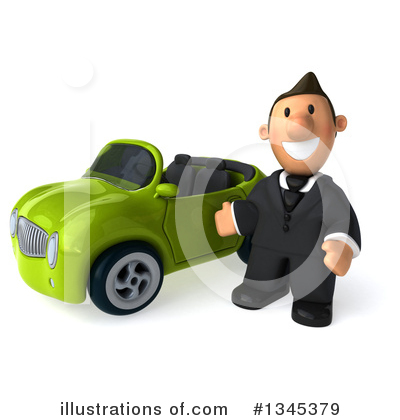 Short White Businessman Clipart #1345379 by Julos