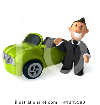 Short White Businessman Clipart #1345380 by Julos