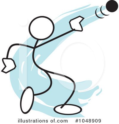 Royalty-Free (RF) Shot Put Clipart Illustration by Johnny Sajem - Stock Sample #1048909