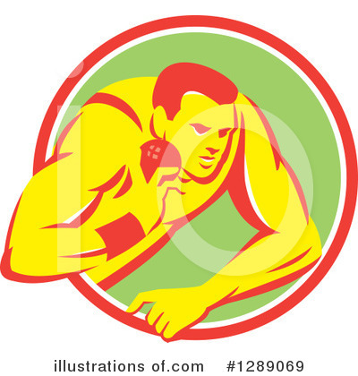 Shot Put Clipart #1289069 by patrimonio