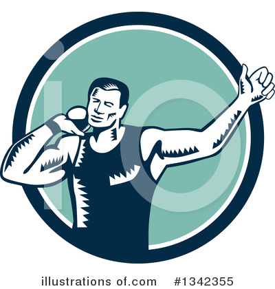 Track And Field Clipart #1342355 by patrimonio