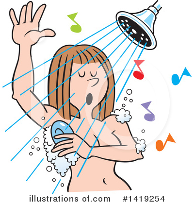 Singing Clipart #1419254 by Johnny Sajem